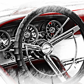 Take The Wheel by Wesley Nesbitt - Drawing All Drawing