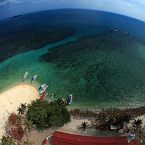 FROM LANGKUAS TOWER BELITUNG  by Arif Otto - Landscapes Beaches