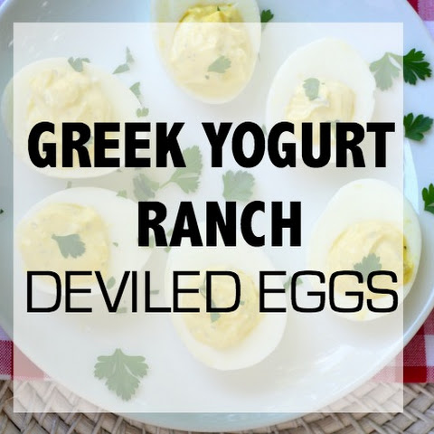 Greek Yogurt Ranch Deviled Eggs