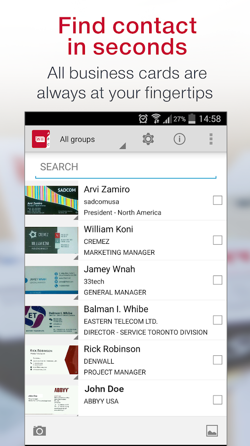 Business Card Reader Pro Screenshot 2