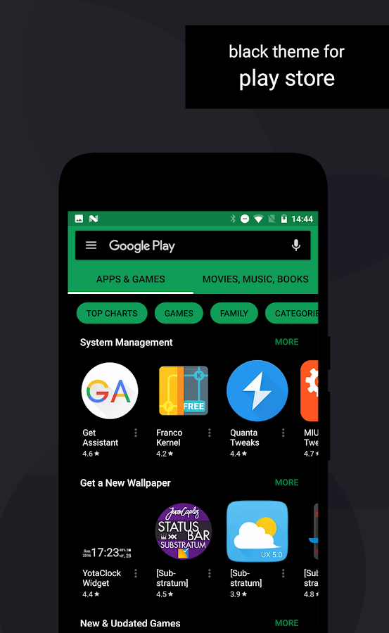 Swift Black Substratum Theme Screenshot 10