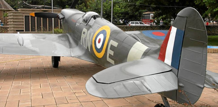 Lesotho's fibreglass replica of a Spitfire Mk Vb fighter took six years to make