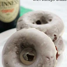 Chocolate Guinness Baked Donuts with Baileys Glaze
