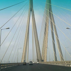 Worli Sea Link, Mumbai  by Umer Naseef - Typography Captioned Photos ( sea, bridge )