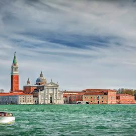 San Giorgio Maggiore, Venice by Cristian Peša - City,  Street & Park  Vistas ( vistas, san giorgio maggiore, public and historical, venice, sea, island )