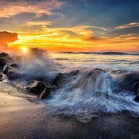Save Rocks and Rolls by Hendri Suhandi - Landscapes Sunsets & Sunrises ( bali, sunrise, beach )
