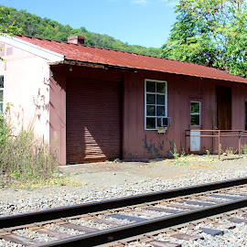 Old train depot by Janet Smothers - Buildings & Architecture Decaying & Abandoned