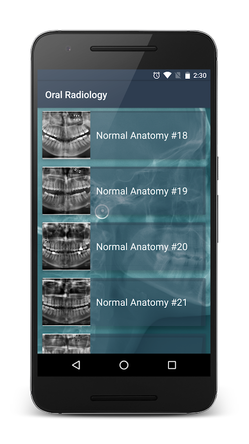 Oral Radiology Screenshot