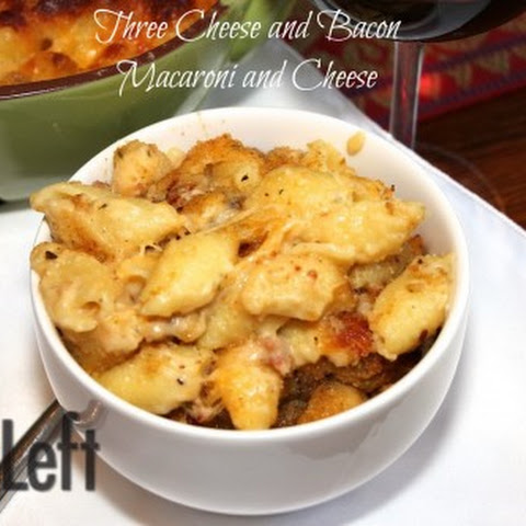Three Cheese And Bacon Macaroni And Cheese