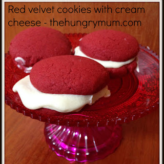 Red Velvet Cookies With Cream Cheese Filling