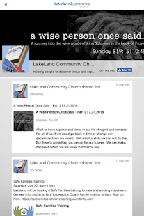 Lakeland Community Church - screenshot
