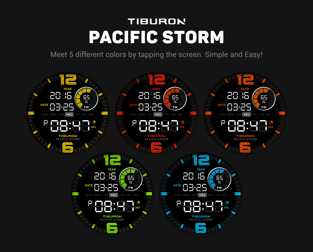 Pacific Storm watchface by Tib Screenshot 3