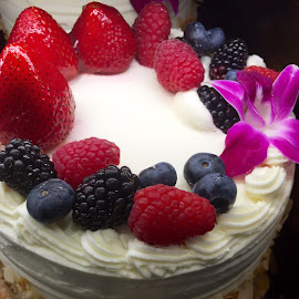Berries on White Cake by Lope Piamonte Jr - Food & Drink Candy & Dessert