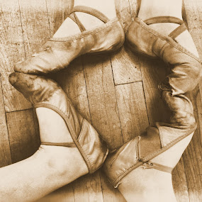 by Jessica Lunn - People Fine Art ( sepia, heart, feet, ballet )