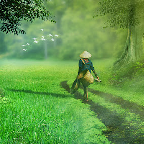 Pergi ke sawah by Ferdy Zilo - Digital Art People