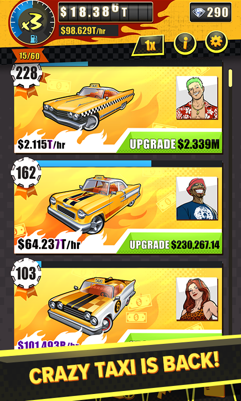 Crazy Taxi Gazillionaire Screenshot 1