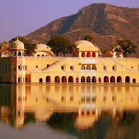 Jaipur Lake Palace, India by Madhujith Venkatakrishna - Buildings & Architecture Office Buildings & Hotels ( reflection, reflections, mirror, , garyfonglandscapes, holiday photo contest, photocontest )