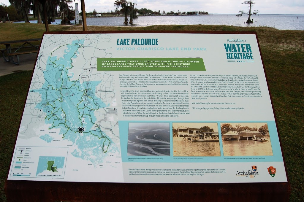 Lake Palourde covers 11,520 acres and is one of a number of large lakes that once existed within the historic Atchafalaya River Basin's 3-million-acre landscape. Lake Palourde is just east of ...