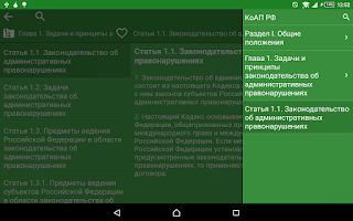 Screenshot of Administrative Offences CodeRU