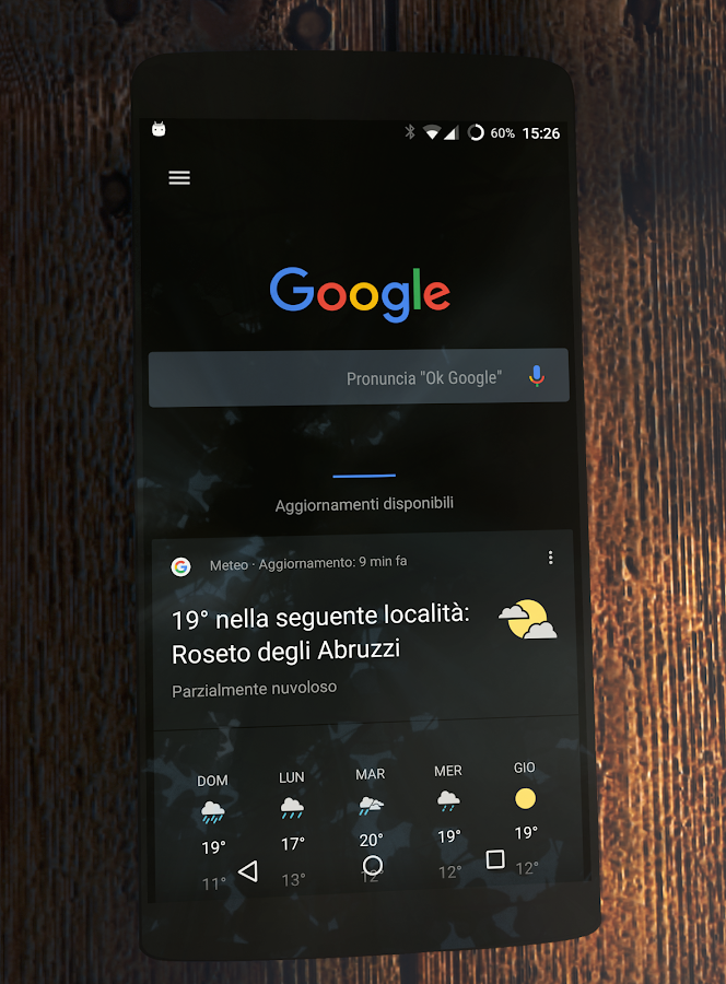 [Substratum] Black Stock Theme Screenshot 1