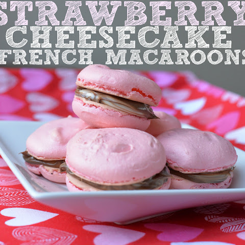 Strawberry Cheesecake French Macaroons