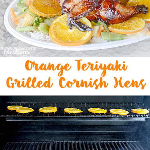 #ad Orange Teriyaki Grilled Cornish Hens