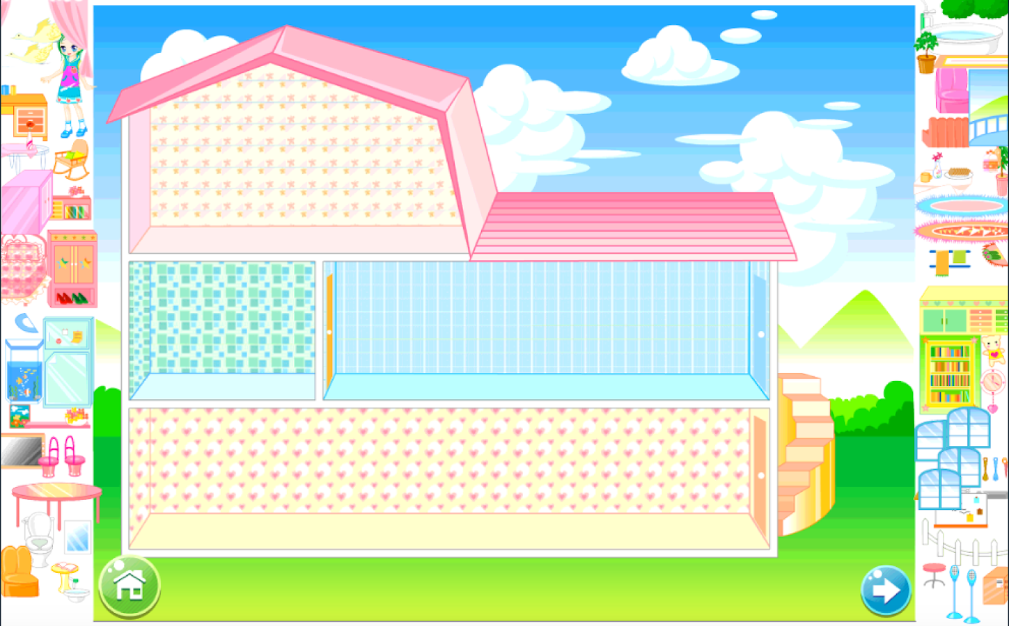 Doll House Decorating Game Screenshot