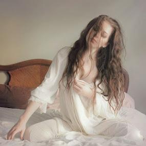 Illuminated Loniness 6 by B Lynn - People Portraits of Women ( boudoir, woman, women, light, people,  )