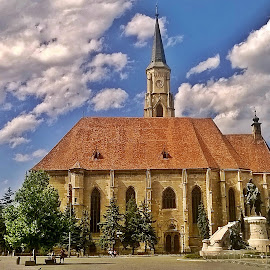 Sunday in Cluj by Ciprian Apetrei - Instagram & Mobile Other ( clouds, church, mobile photos, romania, city )