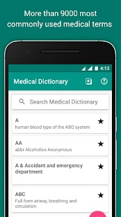 Offline Medical Dictionary screenshot for Android