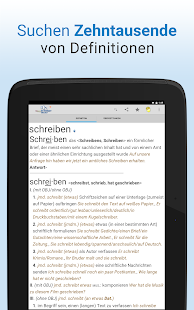 Wörterbuch + Screenshot