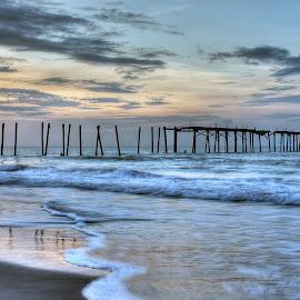 59th street pier by Randall Griffin - Landscapes Sunsets & Sunrises ( sunrise, pier, ocean, ocean city, new jersey,  )