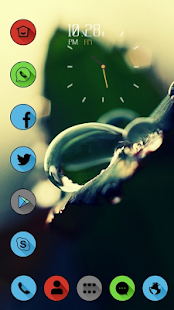 Blurred background drops theme - screenshot