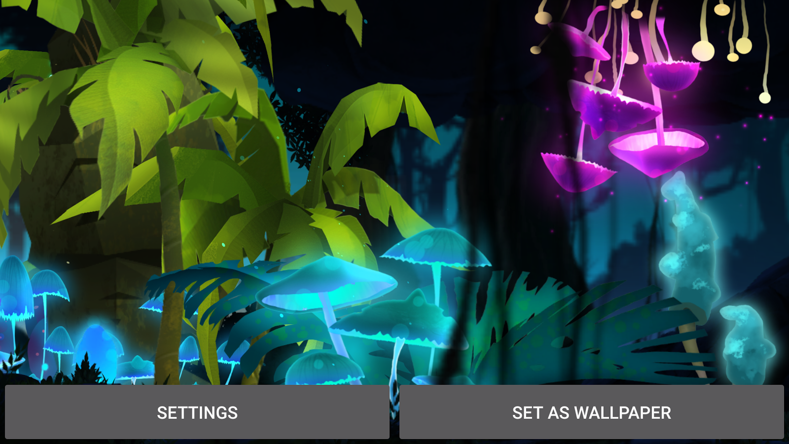 Mushroom Firefly Jungle LWP Screenshot 12