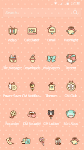Cute CM Theme for huawei - screenshot
