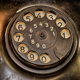 What Is YOUR Number ? by Marco Bertamé - Artistic Objects Antiques ( old, vintage, round, number, circle, 3, 2, 1, 0, 7, 6, 5, 4, 9, 8, telephone, dial plate )