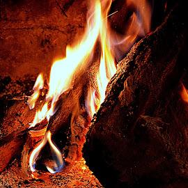 Porque está frio by Luis Almeida - Abstract Fire & Fireworks ( fireplace, fire )