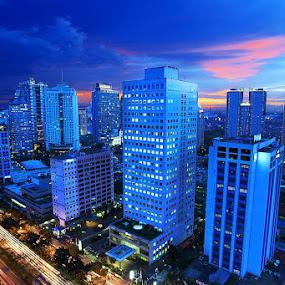 LOVELY JAKARTA by Arif Otto - City,  Street & Park  Skylines ( #jakarta #nightshoot#beauty )