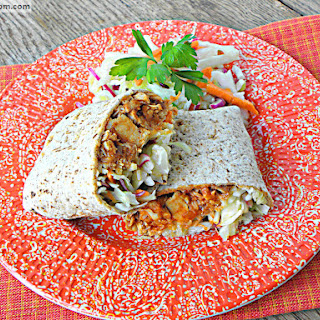 BBQ Chicken Cheddar Burritos with Mayo Free Slaw