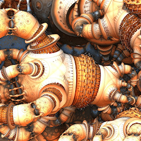 Knotted Up by Ricky Jarnagin - Illustration Abstract & Patterns ( abstract, ricky jarnagin, mandelbulb, dsynegrafix, 3d art, fractal )