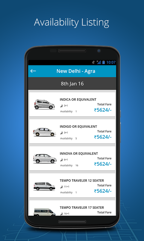 India's #1 Outstation Taxi App Screenshot 2