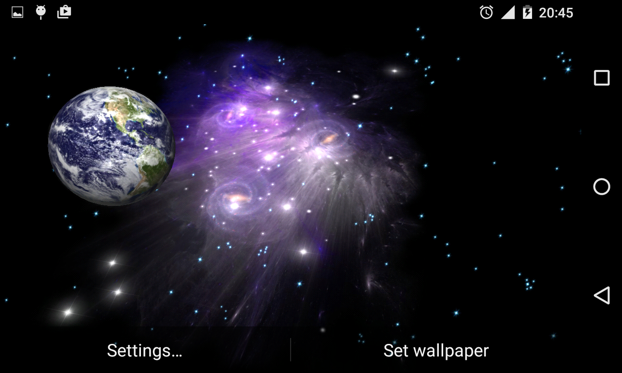 3D Galaxy Live Wallpaper Full Screenshot 5