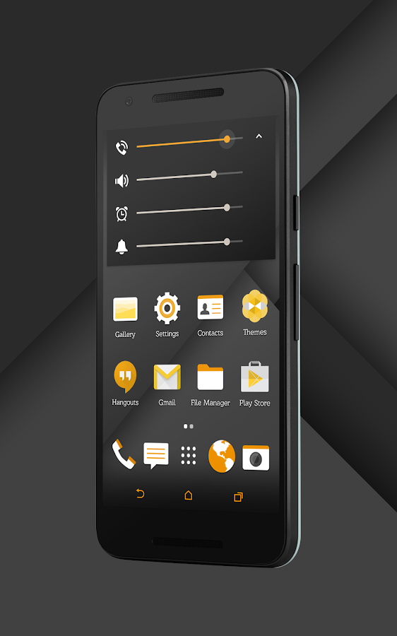 Sense Black/Orange cm13 theme Screenshot 10