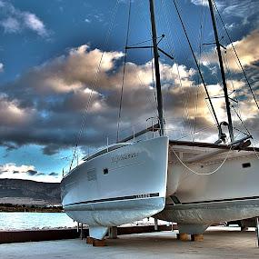 Dream Boat by Giancarlo Ferraro - Transportation Boats ( vacation, sailing, sea, summer, boat )