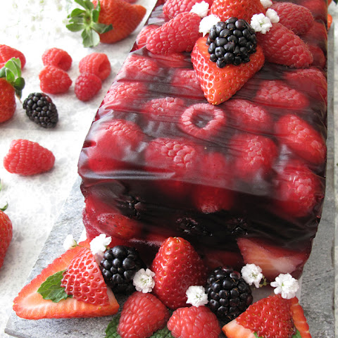 AIP / Paleo Fruit Terrine with Berries - No Bake Valentine Dessert