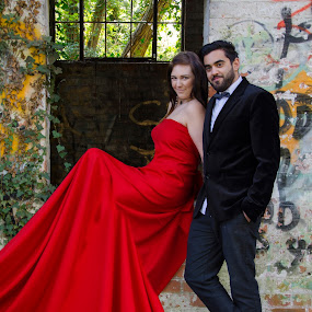 by Steven Stamford - People Professional People ( red, derelict, couple, red dress, photoshop,  )