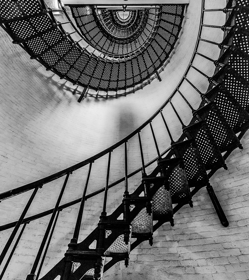 St Augustine Lighthouse Stariwell by Brian Baker - Buildings & Architecture Architectural Detail