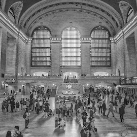 Grand Central Terminal by Joe Chowaniec - Buildings & Architecture Other Interior ( black and white, grand central terminal, new york, architecture, nyc )