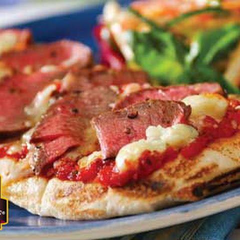 Grilled Pizza with Steak and Blue Cheese
