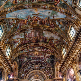 Church of Sant'Antonio Abate, Milan by Andrea Conti - Buildings & Architecture Places of Worship ( interior, milan, church, italia, ceiling, chiesa, architecture, frescos, worship, italy, milano )